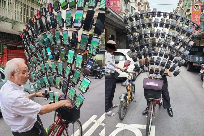 Photo of He used 64 smartphones to play Pokemon Go